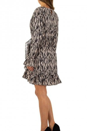 Μπεζ φόρεμα ζέβρα