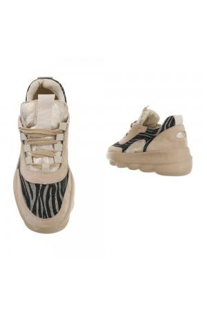 Μπεζ sneakers ζέβρα