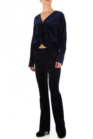 Βελουτέ σετ φόρμας - Μπλε σκούρο