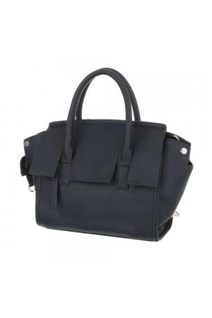 Μαύρη τσάντα ώμου με αποσπώμενο λουράκι