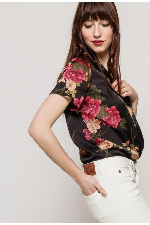 Φλοράλ πουκάμισο - κορμάκι Lilie Rose