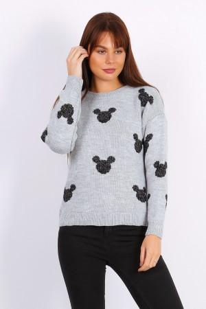 Γκρι πουλόβερ Mickey Mouse