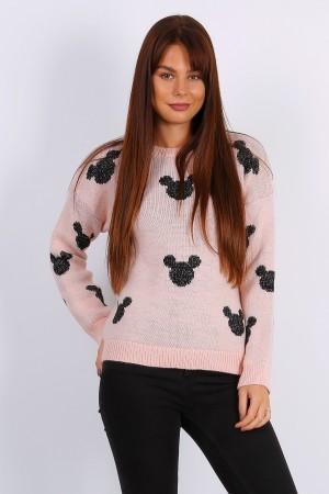 Ροζ πουλόβερ Mickey Mouse