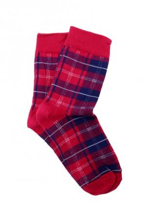 Καρώ κάλτσες -Κόκκινο