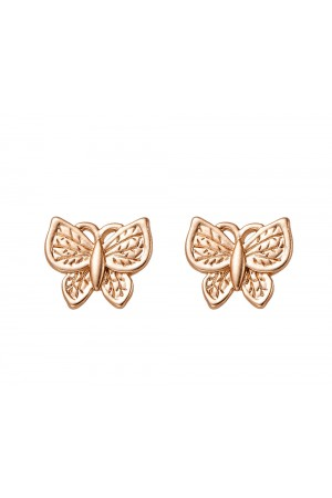 Σκουλαρίκια χρυσές πεταλούδες