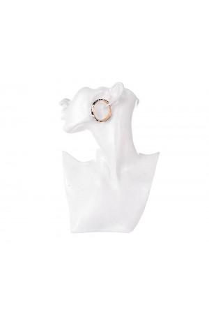 Ασπρόμαυρα σκουλαρίκια κρίκοι ταρταρούγα