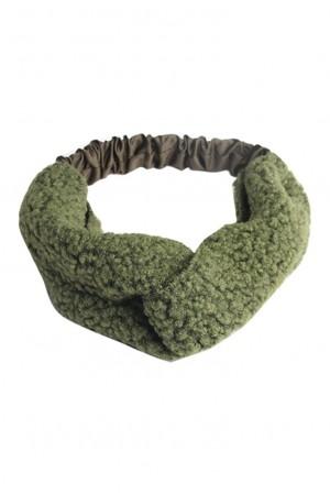 Πράσινη sheepskin κορδέλα μαλλιών