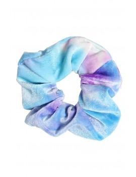 Tie dye βελούδινο scrunchie - Μπλε
