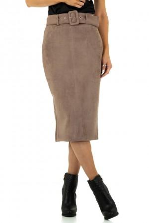 Μίντι pencil φούστα με ζώνη