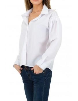 Λευκό πουκάμισο με πέρλες στους ώμους