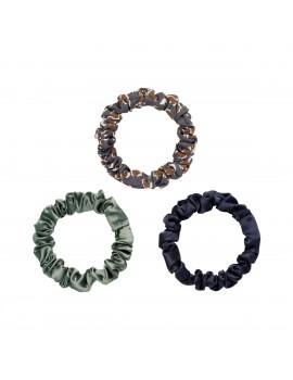 Σετ των 3 scrunchies - Μπλε σκούρο