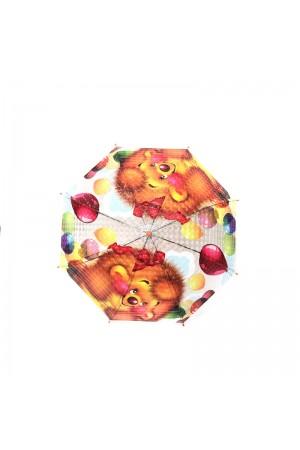 Παιδική ομπρέλα με λιοντάρια και μπαλόνια - Πορτοκαλί