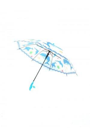 Παιδική ομπρέλα με δελφίνια- Μπλε