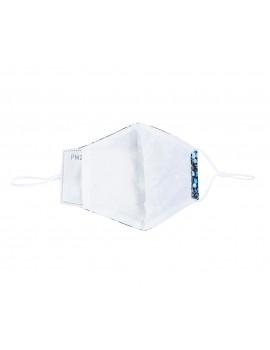 Μπλε υφασμάτινη μάσκα με print σταφίδα με φίλτρο,One size