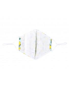 Μπλε υφασμάτινη μάσκα με λεμόνια  χωρίς φίλτρο, One size