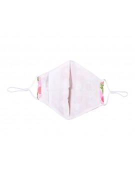 Ροζ υφασμάτινη μάσκα με ροδάκινα χωρίς φίλτρο, One size