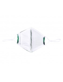 Πράσινη καρώ υφασμάτινη μάσκα χωρίς φίλτρο, One size