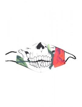 """Λευκή """"Day of death"""" μάσκα προσώπου ενηλίκων"""