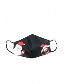 Μαύρη με τάρανδο και Άγιο Βασίλη μάσκα προσώπου ενηλίκων