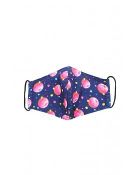 Μπλε παιδική με ροζ πλανήτες donuts μάσκα προσώπου