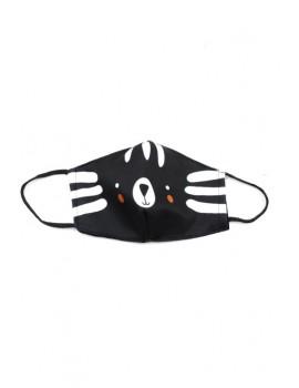Μαύρη παιδική μάσκα προσώπου ζωάκι