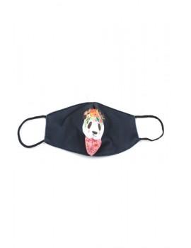 Μαύρη με panda παιδική μάσκα προσώπου