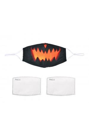 Μαύρη μάσκα με κολοκύθα με φίλτρο, One size