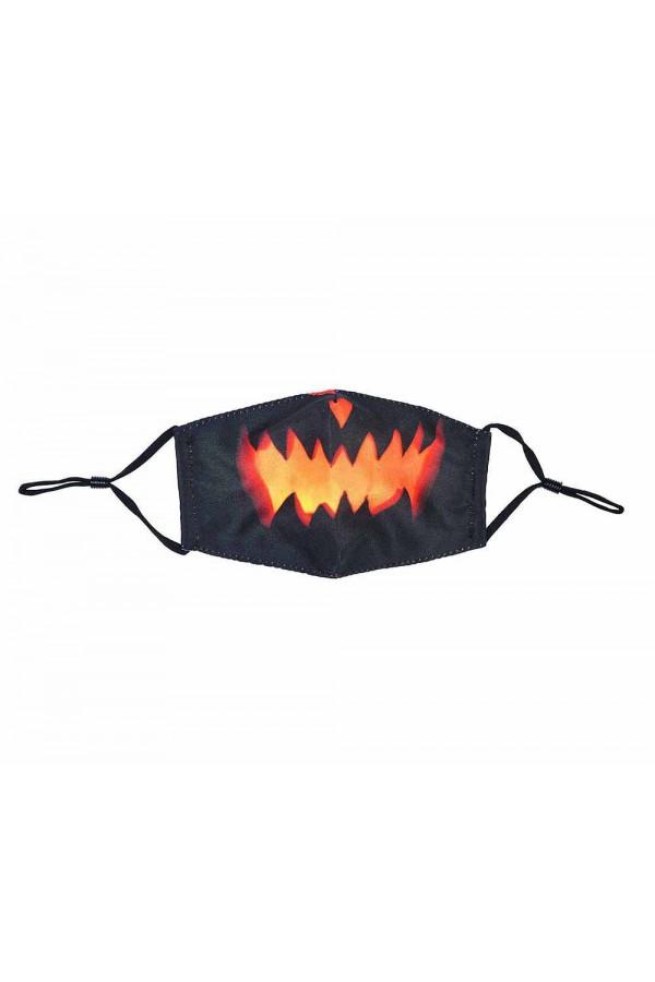 Μαύρη παιδική μάσκα με κολοκύθα χωρίς φίλτρο