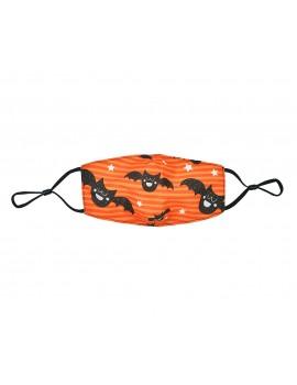Πορτοκαλί παιδική μάσκα με νυχτερίδες χωρίς φίλτρο
