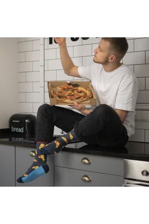 Ανδρικές κάλτσες με pizza print