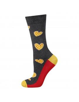 Ανδρικές κάλτσες με καρδιές πίτσας