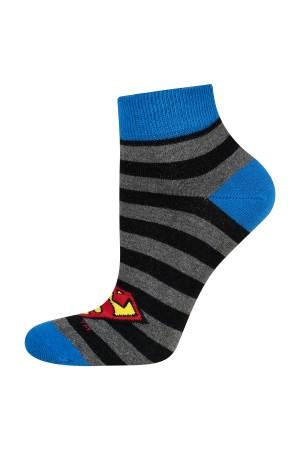 Ανδρικές κάλτσες ριγέ Superman