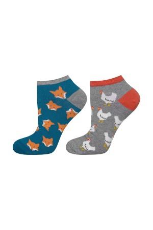 """Ανδρικές κάλτσες κοντές """"Foxes&hens"""""""