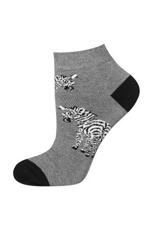 Ανδρικές κάλτσες κοντές με zebra