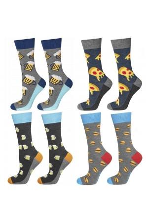 Σετ των 4 ανδρικές κάλτσες με διάφορα prints