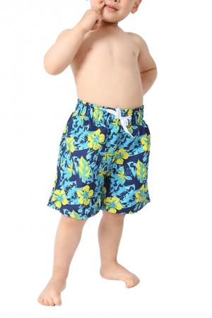 Μπλε μαγιό-βερμούδα για αγόρια φλοράλ