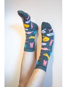 """Παιδικές κάλτσες με θέμα """"Cats"""""""