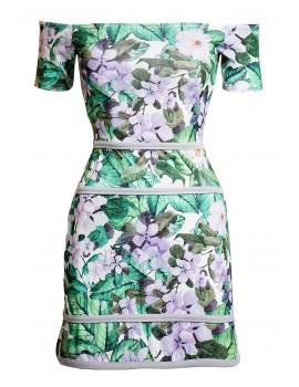 Φλοράλ φόρεμα με ανοιχτούς ώμους