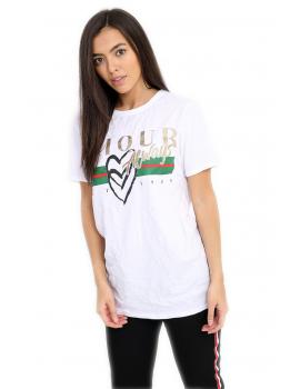 """Amour Always"" Λευκό T-shirt"