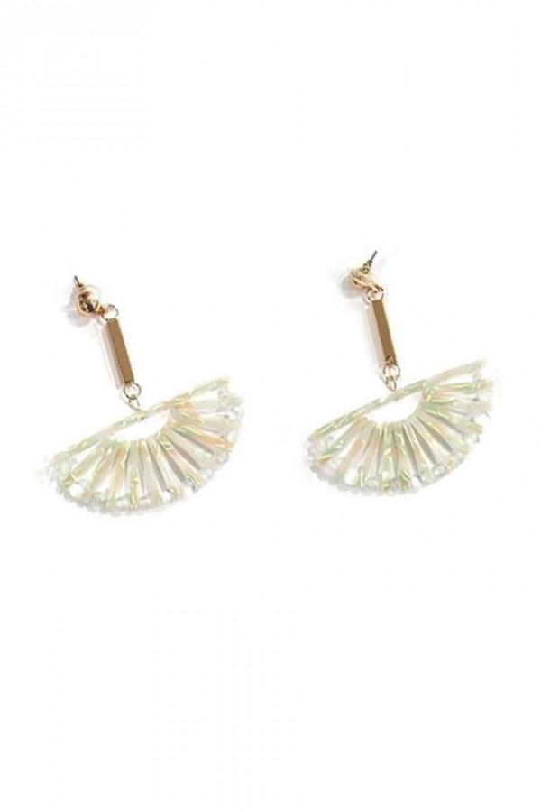 Κρεμαστά σκουλαρίκια λευκή ταρταρούγκα