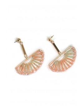 Κρεμαστά σκουλαρίκια ροζ ταρταρούγα