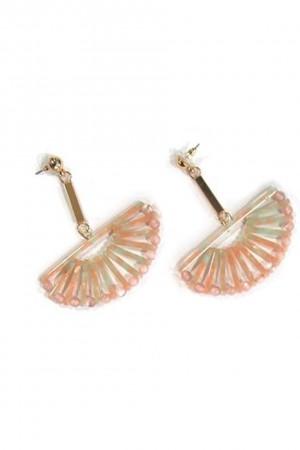Κρεμαστά σκουλαρίκια ροζ ταρταρούγκα