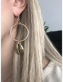 Χρυσά σκουλαρίκια με κοχύλια
