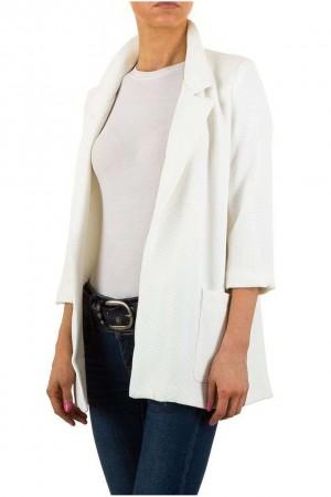 Λευκό μακρύ blazer