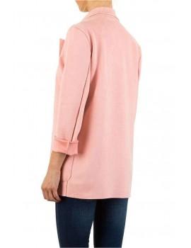 Ροζ blazer με τσέπες
