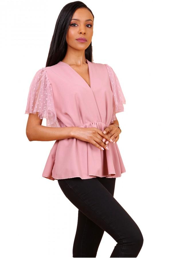 Ροζ plumeti top