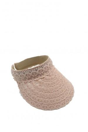 Καπέλο visor δαντέλα-Ροζ