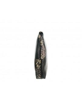 Μαύρο τσαντάκι-νεσεσέρ με τύπωμα ανανά