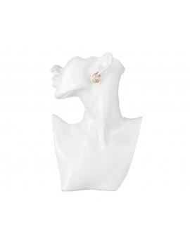 Σκουλαρίκια διπλοί κρίκοι από ορείχαλκο
