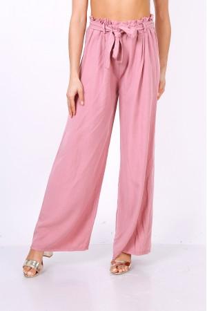 Dusty pink παντελόνα με μέση paperbag